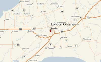 London Ontario Map London Ontario Canada   The Forest City London Ontario Map